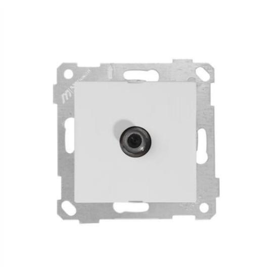 Mutlusan Uydu Prizi Geçişli Rita Natural - Beyaz 2200 166 0101 (Çerçeve Hariç)