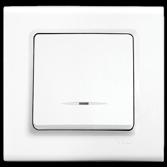Viko Linnera Işıklı Anahtar - Beyaz 90440019 (Çerçeve Hariç)