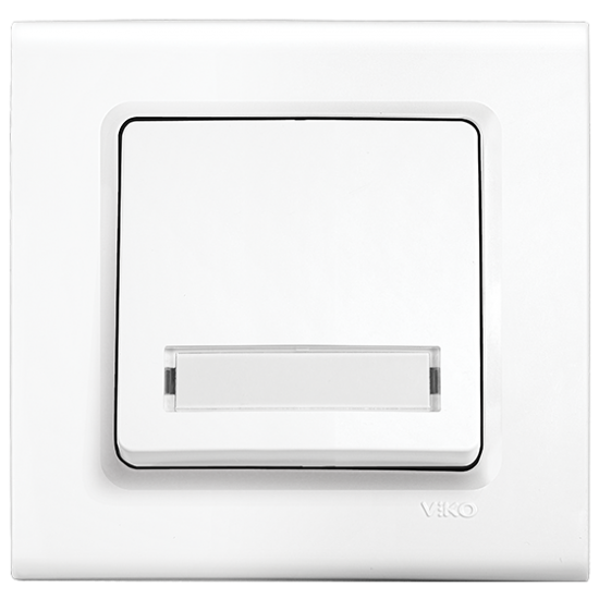 Viko Linnera Işıklı Etiketli Zil Anahtarı - Beyaz 90440027 (Çerçeve Hariç)