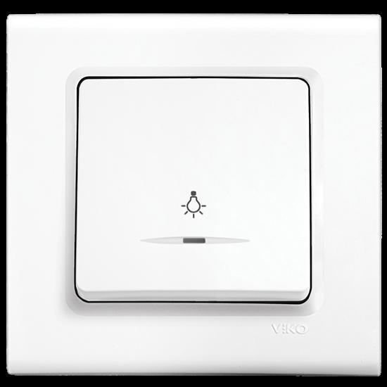 Viko Linnera Işıklı Light Anahtar - Beyaz 90440014 (Çerçeve Hariç)