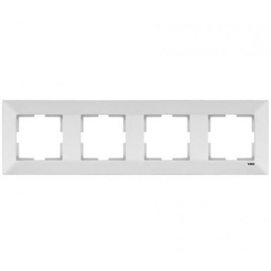 Toptan Viko 10'lu Meridian Dörtlü Çerçeve - Beyaz