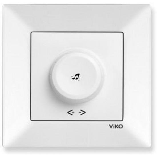 Viko Meridian Acil Anonslu Trafolu Müzik Yayın Anahtarı (Çerçeve Hariç) - Beyaz