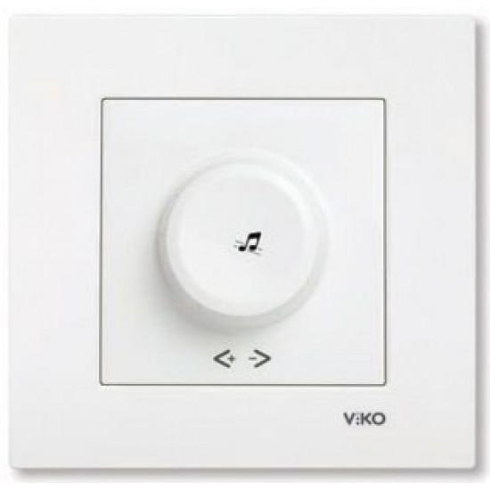 Viko Karre Acil Anonslu Trafolu Müzik Yayın Anahtarı - Beyaz (Çerçeve Hariç) 90967028
