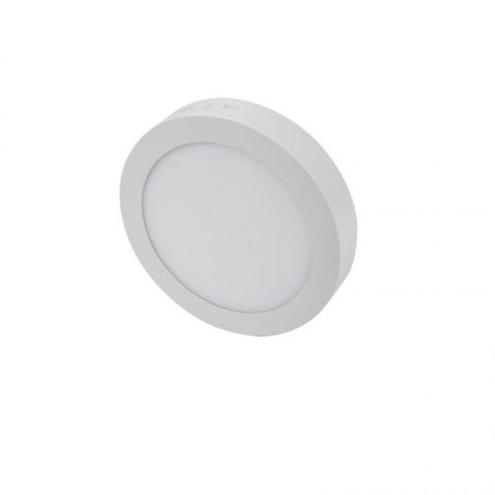 Cata 18W Yuvarlak Sıva Üstü Led Panel Armatür - Beyaz Işık CT-5233 Alüminyum Çerçeve