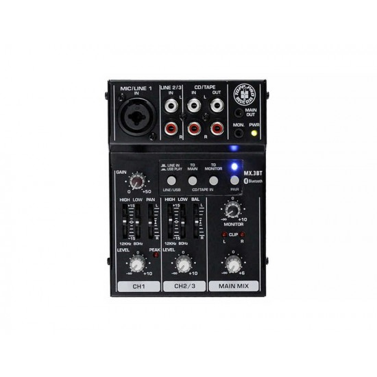 MX3BT 3CH USB/Bluetooth Deck Mixer