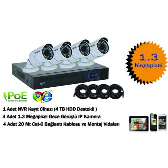 NVR POE KIT 4 Kameralı SV-7904DP